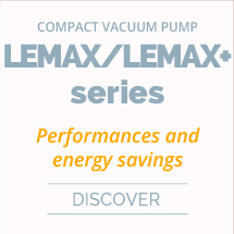 Compact, high flow vacuum pump with air saving control LEMAX+ series